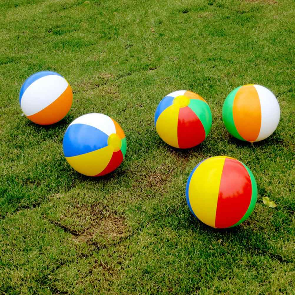 1Pc Rubber Ball Baby Kids Beach Pool Play Ball Inflatable Children Rubber Educational Soft Learning Toys 23CM Random Style