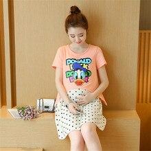 Two piece Sets Summer Cotton Nursing Dress Breastfeeding Clothing for Feeding Nursing Clothes Breast Feeding Maternity