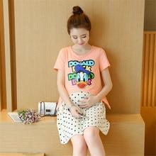 Two piece Sets Summer Cotton Nursing Dress Breastfeeding Clothing for Feeding Nursing font b Clothes b