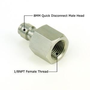 Image 5 - New ペイントボールエアガン PCP エアガンクイックディスコネクト充電ホースアダプター糸 1/8NPT & 1/8BSP & m10 * 1 ステンレス鋼乳首記入