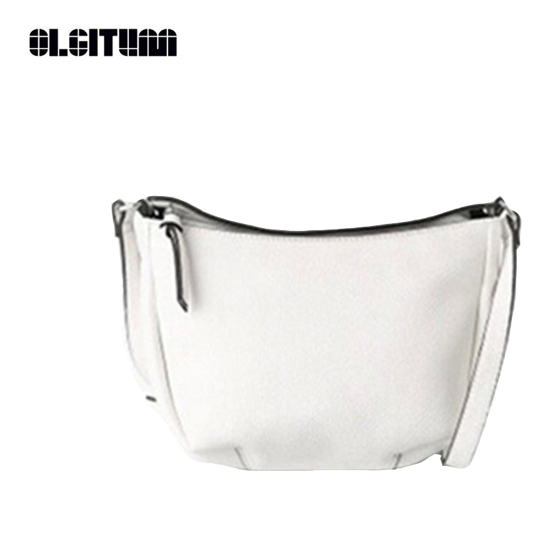 87b81300ff Olgitum 2018 Venta caliente nuevo bolso de hombro de las mujeres bolsos de  cuero de las mujeres señoras negro pequeño bolso bolsos Messenger mujer  HB154