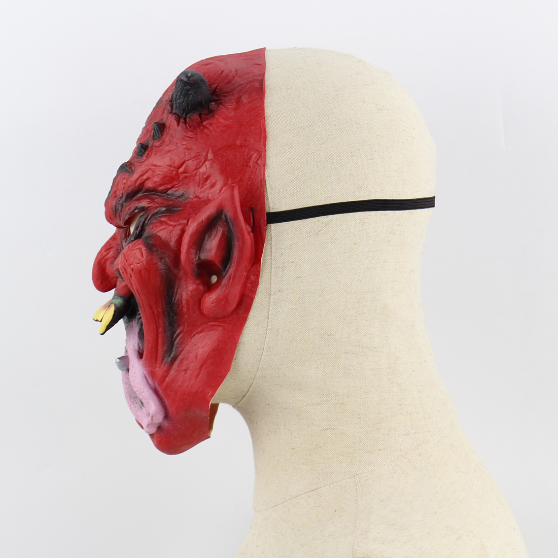 Latex Adult Party Full Head Cosplay Maske Masquerade Halloween Scary Horror Mask Long Tongue Red Demon Masks Funny Mascaras Prop in Party Masks from Home Garden