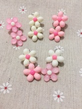 Beautiful Sakura Snow Heart Acrylic Dog Bows ,Pet hair clips beauty products .Dog Grooming Accessories