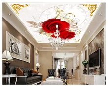 beibehang Fashion three-dimensional decorative painting wall paper marble European floral pattern zenith floor 3d wallpaper