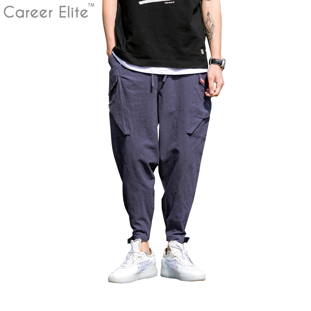 9af1f3c9344 Fashion Brand Men Pants Joggers Casual Twill Fitness Biker Sweatpants  Autumn Winter Plus Size Slim Pockets Male Long Trousers