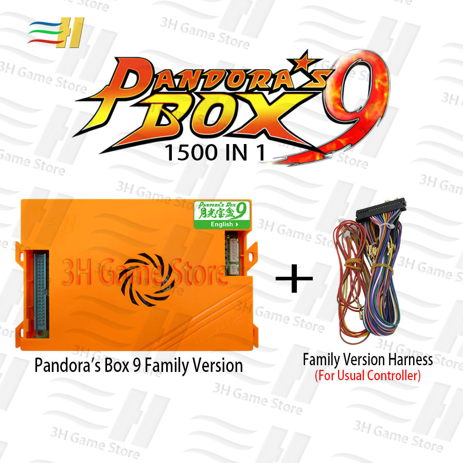 Pandora box 9 1500 in 1 family arcade game motherboard multi game pcb HDMI VGA usb joystick for pc tv ps3 pandora's box 5s 7 8 9 2018 new joystick consoles with multi game pcb board 960 in 1 pandora box 5 arcade joystick game console double controllers