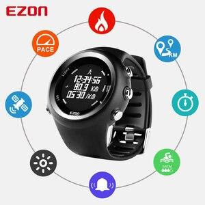 Image 2 - ساعة رياضية رقمية للرجال مزودة بنظام تحديد المواقع ساعة للجري مع سرعة لمسافة حرق السعرات الحرارية ساعة توقيت مضادة للماء 50M EZON T031
