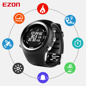 Image 2 - Mens  Digital  Sport Watch Gps Running Watch With Speed Pace Distance Calorie burning  Stopwatch Waterproof 50M EZON T031