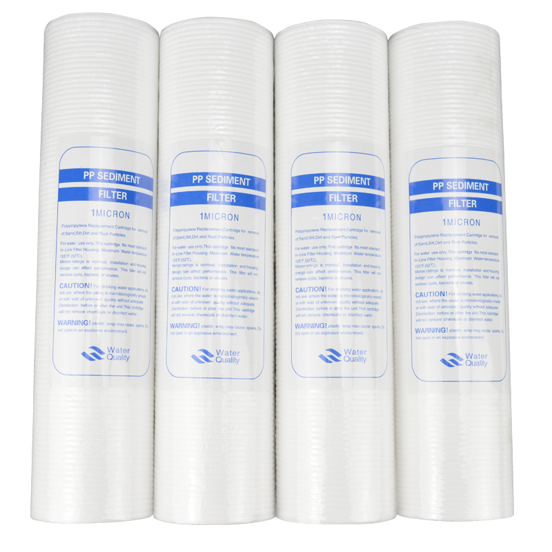 New 4pcs PP Cotton Filter Water Filter Water Purifier 10 Inch 1 Micron Sediment Water Filter Cartridge System Reverse Osmosis цена