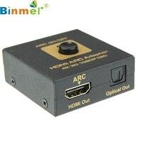 En Kaliteli Siyah HDMI ARK Adaptörü HDMI & Optik Ses Dönüştürücü 4 k 3D 1080 P USB DC 5.5mm Güç Kablosu ile FE9 MSK