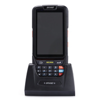 Mobile 1D barcode scanner android 7.0 OS with 8MP camera and 4G net PDA scanner with NFC/BT/GPS/4G all netcom