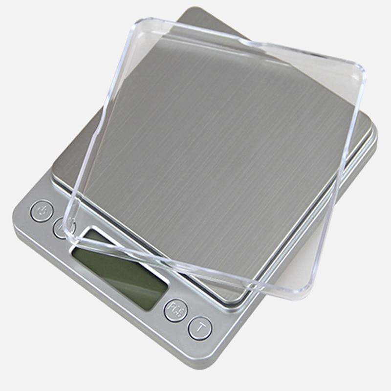 500 g x 0,01 g hordozható mini elektronikus digitális mérlegek - Mérőműszerek - Fénykép 3