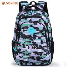 цены на Fashion Unisex Boys Girls Waterproof Backpack Preppy Style Letter Print Shoulder Bag Travel School Bags Casual Backpack mochila  в интернет-магазинах