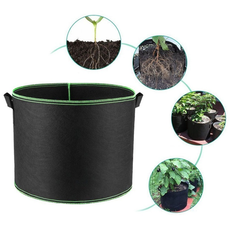 Fabric Grow Bags Breathable Pots Planter Root Pouch