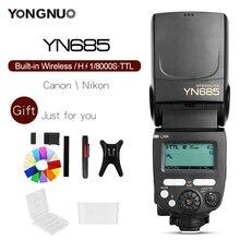 YONGNUO YN685 YN685C YN685N iTTL Wireless 2.4 גרם HSS TTL Speedlite פלאש עבור Canon ניקון תמיכה YN560IV YN560 TX RF605 RF603 השני