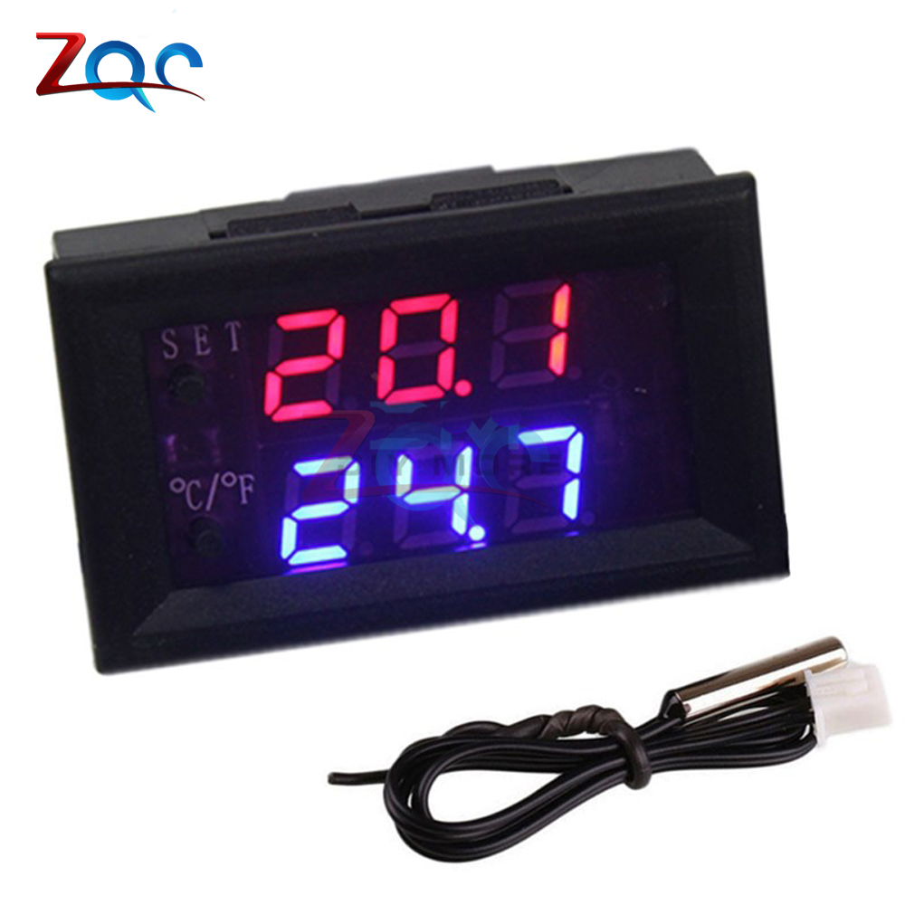 W1209WK W1209 WK DC 12V LED Digital Thermostat Temperature Control Thermometer Thermo Controller Switch Module + NTC Sensor w1209 green led digital thermostat temperature control thermometer thermo controller switch module dc 12v waterproof ntc sensor