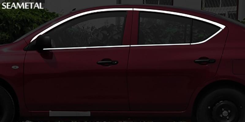 Para Nissan Versa Sedan 2012 2013 2014 2015 2016 2017 Moldura Da Janela Do  Carro Guarnição Decoração Externa Lantejoula Auto Acessórios Styling Em  Styling ...
