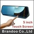 Envío libre monitor Del Coche, 5 pulgadas de pantalla táctil, 2 de entrada de vídeo, cambio automático de vídeo