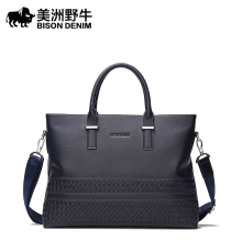 The buffalo male youth business bag leather handbag Crossbody Bag Shoulder leather briefcase computer bag