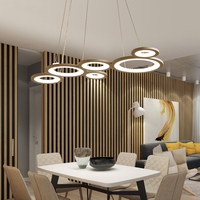 After A Creative Restaurant Chandelier Lamp Modern Led Multi Ring Personality Creative Atmosphere Bedroom Lamp Living