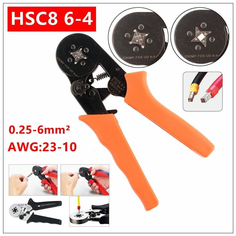 Werkzeuge Mxita Nadel Typ Terminal Hsc8 6-4 Mini-type Self-adjustable Quetschverbindenzange 0,25-6mm Terminals Crimp-werkzeuge Multi Werkzeuge Neueste Mode
