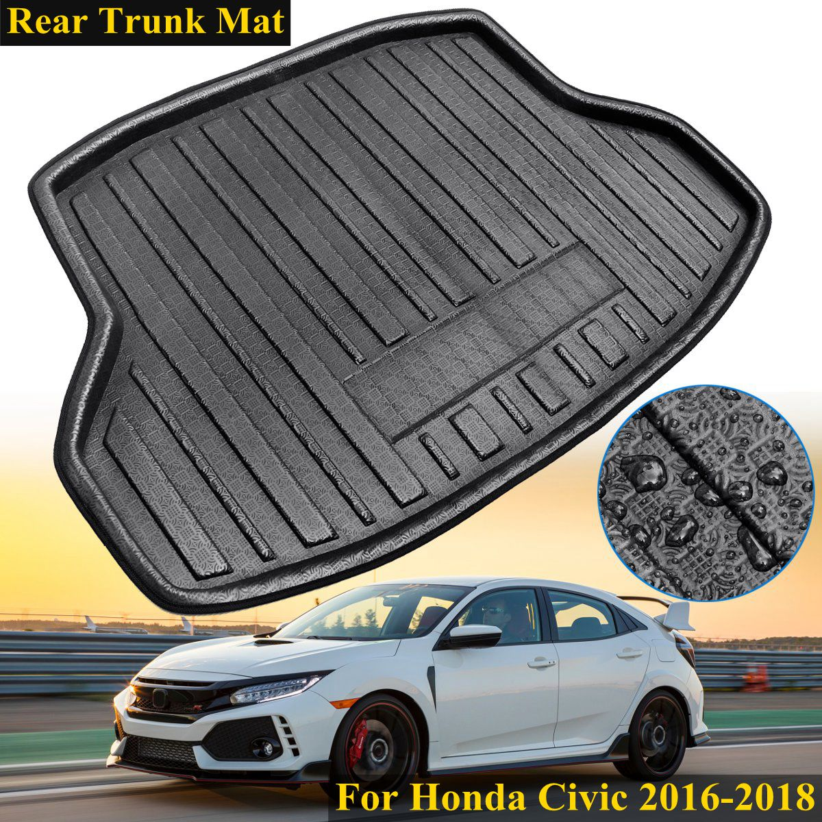 New Rear Trunk Cargo Car styling Interior Accessories Boot Liner Waterproof Mat For Honda for Civic 2016 2017 2018 car believe custom car trunk mat for peugeot 5008 508 206 4008 306 307 308 207 cargo liner interior accessories car styling