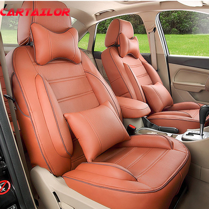 CARTAILOR auto cover seats fit for benz gl class car seat covers accessories PU leather car styling seat cover protection set