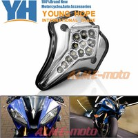 For YAMAHA YZF R6 2008 2012 Motorcycle Accessories Front Center Marker LED Pilot Light Smoke