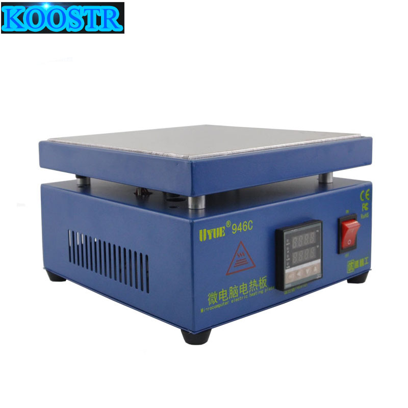 UYUE946C Electronic Hot Plate Preheat LCD Digital Display Preheating Station for PCB SMD heating phone LCD