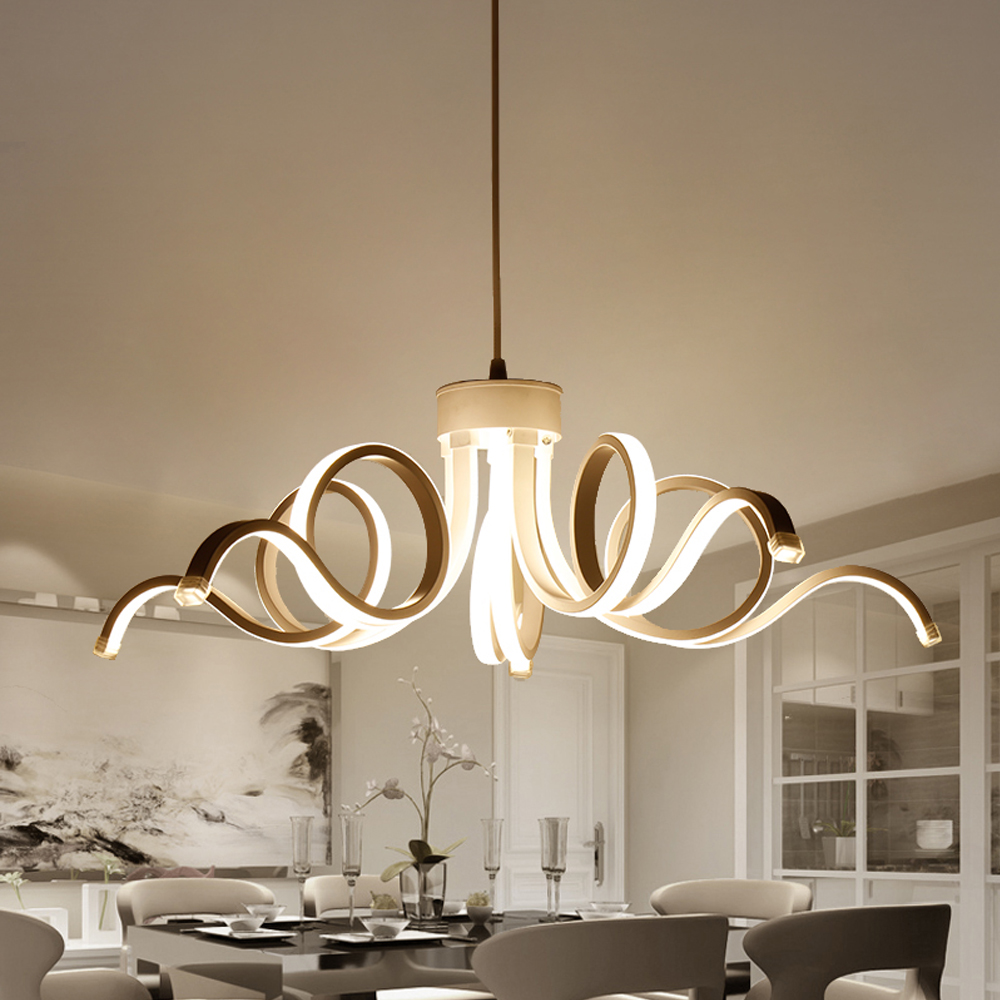 Modern Led Pendant Lights For Bedroom AC 90-260V Pendant Lamp Living Room Restaurant Kitchen Lights Lamparas Luminaire abajur chinese style classical wooden sheepskin pendant light living room lights bedroom lamp restaurant lamp restaurant lights