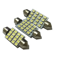AORUNYEBAO 100pcs Car Dome Light Festoon c5w c10w Bulbs  31mm 36mm 39mm 41mm lamp 3528 16SMD  Inerior Reading  Auto bulbs 12V