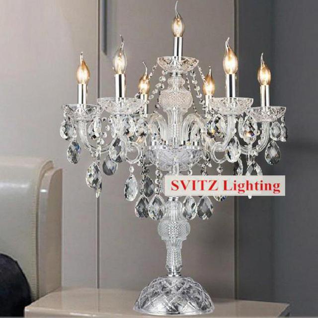Spedizione gratuita argento cromato lampada da tavolo - Portacandele da tavolo ...