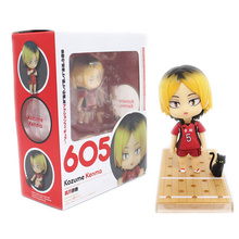 Anime Nendoroid 605 Haikyuu!! Kenma Kozume Q version Haikyuu Kozumekenma Action Figure Collection Modèle Jouets Brinquedos