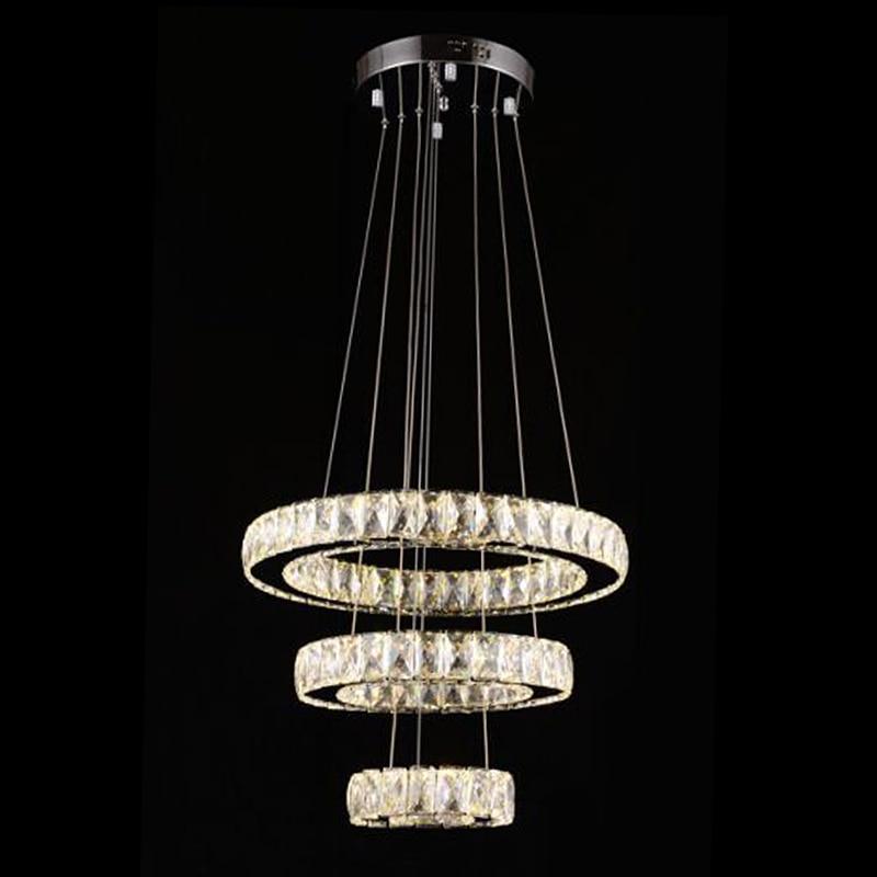 Modern Chandelier LED Crystal Ring Chandelier Ring Crystal Light Fixture luster Chandelier Ceiling LED Lighting Circles Lamp mymei modern new crystal led ceiling light fixture pendant lamp lighting chandelier