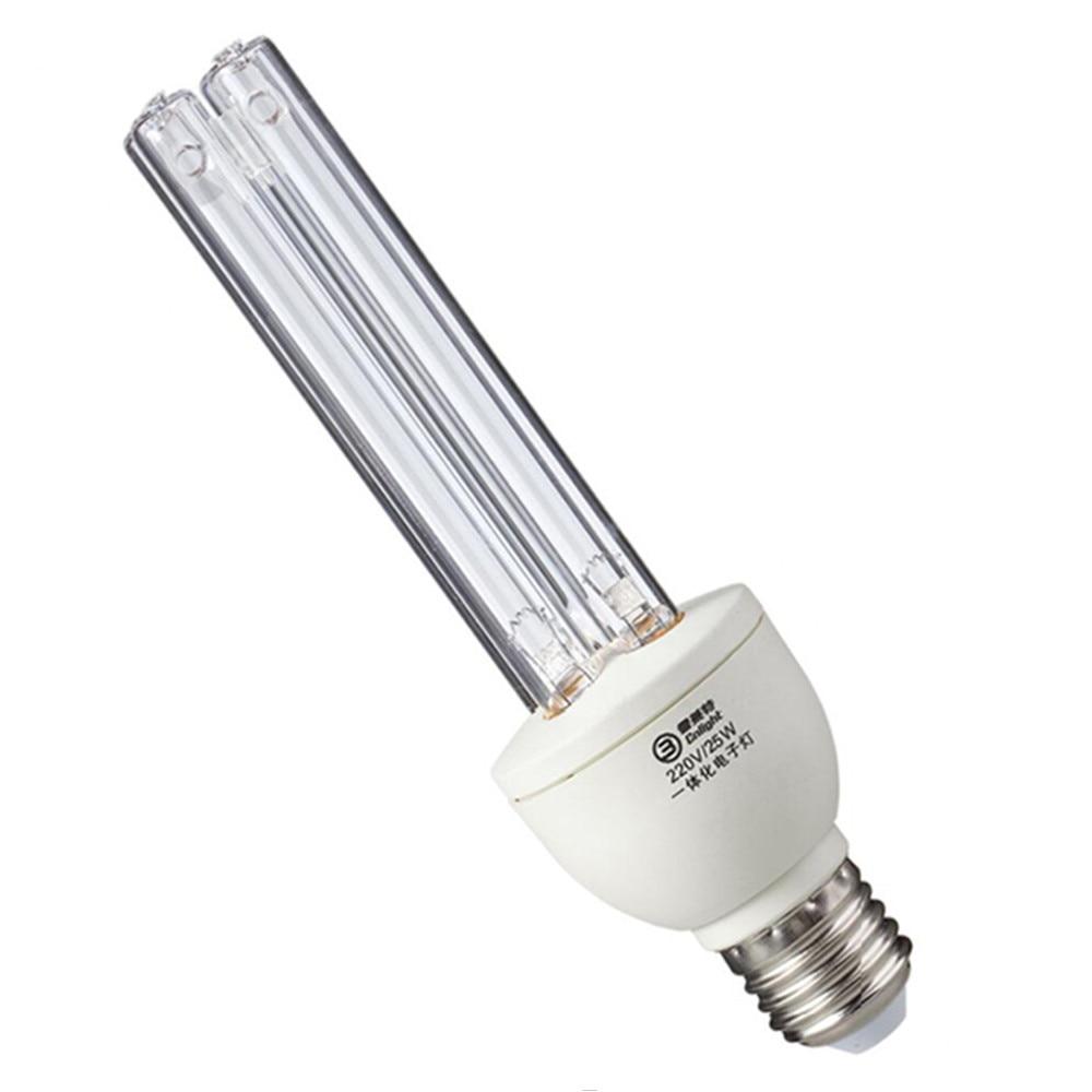 Quartz UVC Germicidal CFL Lamp bulb Voltage: 220V, 110V Wattage: 25W 15W, E27 base for disinfect bacterial kill mites Deodorant uvc germicidal cfl lamp bulb voltage 220v wattage 25w 15w base type e27 screw base compact sterilizer bulb