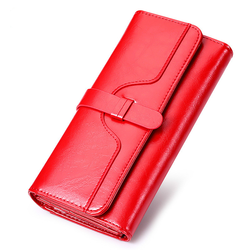 Fashion Women Wallets Top Genuine Cow Leather Purse Female Famous carteira feminina Wallet Clutches Handbag Card