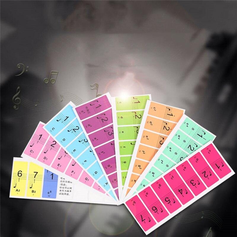 4 шт. 88 клавиш пианино звук Имя Наклейки клавиатура пианино 61 ключей электронных клавиатура 88 клавиш наклейки музыки наклейке этикетка Прим...