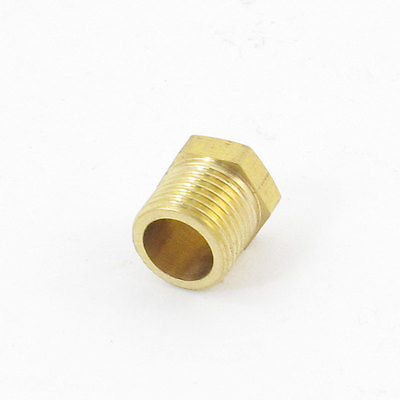 1/8 PT Threaded Diameter Brass Internal Hex Head Pipe Plug Gold Tone 3pcs brass internal hex head socket 1 2 pt thread pipe plug fitting