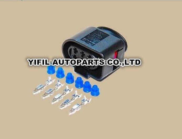 50pcs lot 6 Pin Way Car Oxygen Sensor Plug Auto Waterproof Electrical Connector 1J0973733 For VW