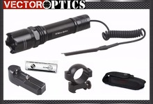 Vector Optics Nightbeat LED Flashlight Torch CREE Q2 & 200 Lumens with Mount, Charger , Battery , Nylon Holster Holiday Sale