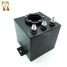 2L Aluminium Fuel Swirl Surge Pot Tank Alloy Intake black Universal fuel surge tank kit for sale