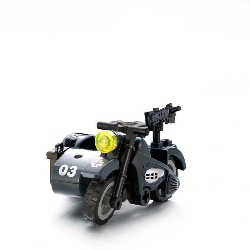 LegoINGlys военный спецназ оружие строительные блоки пушки пакет городской полиции солдат строитель серии WW2 армейские аксессуары MOC кирпичные игрушки