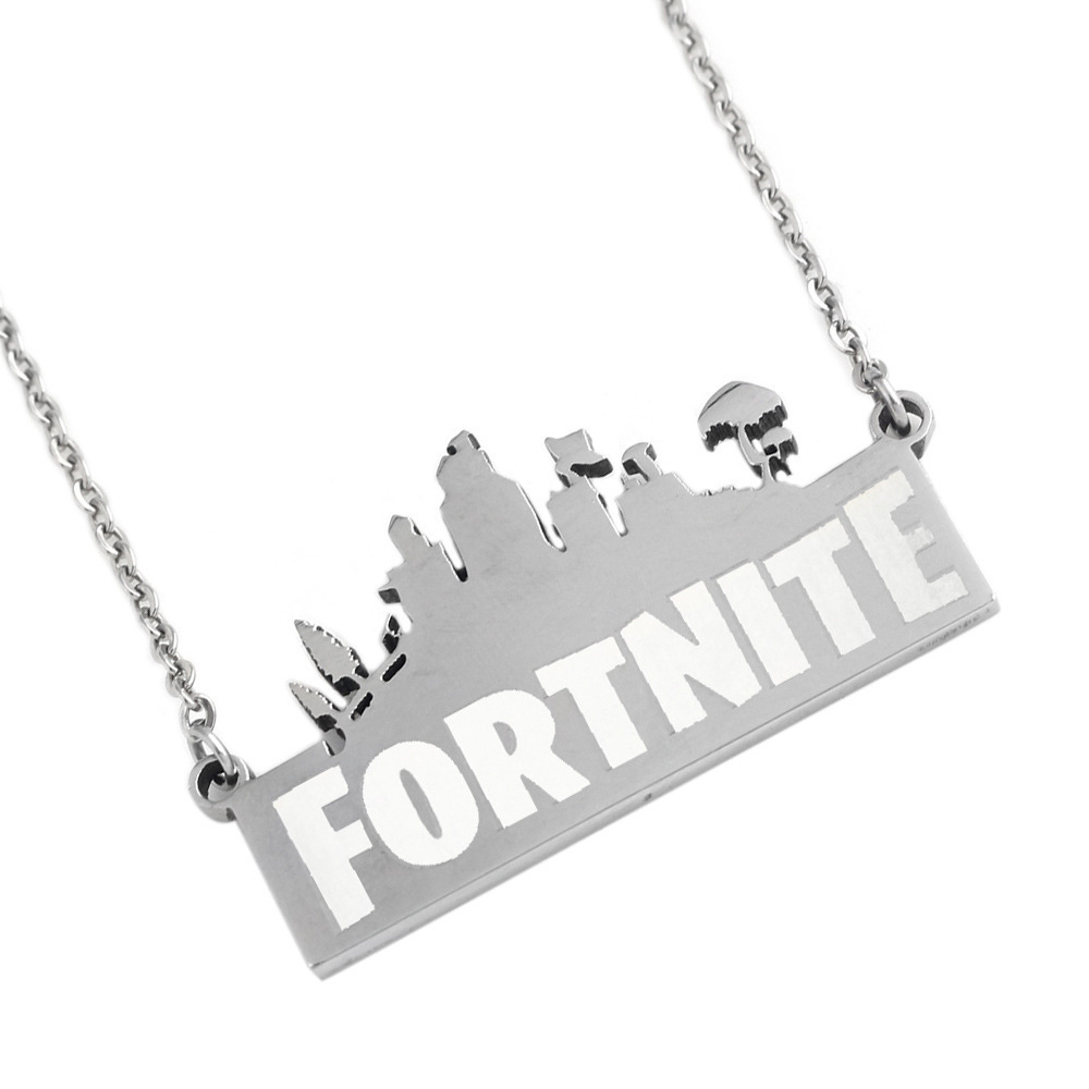 NEW selling FPS Game Fortnite Battle Royal Necklace Fashion Jewelry Stainless steel Necklace Unique gifts for friends and lovers