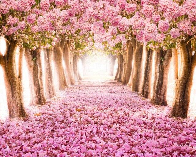 Envío Libre Diy 5d Diamante Bordado Pinturas Rhinestone Flor árboles