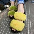 Весна Лето Сандалии Женщин Кролика Тапочки Платформа Квартиры Женская Мода Флип-Флоп Удобные Женская Обувь zapatos mujer