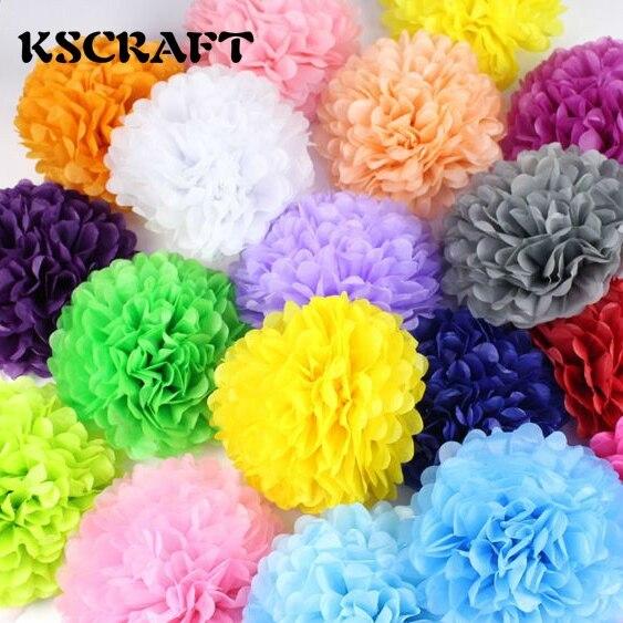 """KSCRAFT Wedding decoration 30pcs 4"""" 6"""" 8""""(10cm 15cm 20cm) Tissue paper pom poms balls baby shower party decoration supplies"""