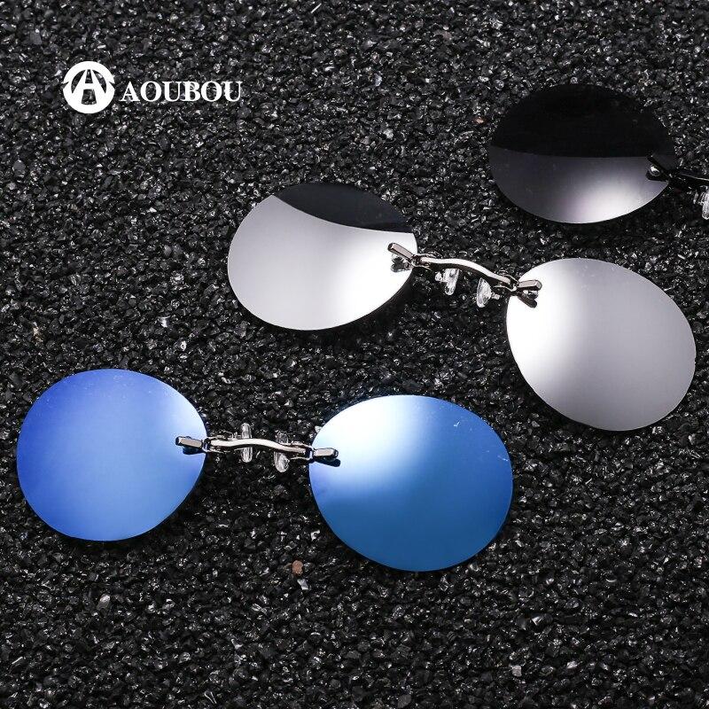 klip napszemüvegen gafas férfiak klip Orr napszemüvegek Retro kerek gafas de sol hombre Keret nélküli és lábak nélküli oculos feminino