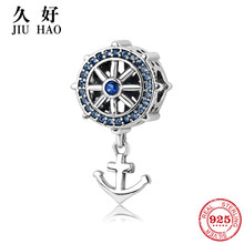 925 sterling silver anchor beads bracelets bangles charms fashion pendants Fit Original Pandora Charm Bracelet Jewelry making(China)