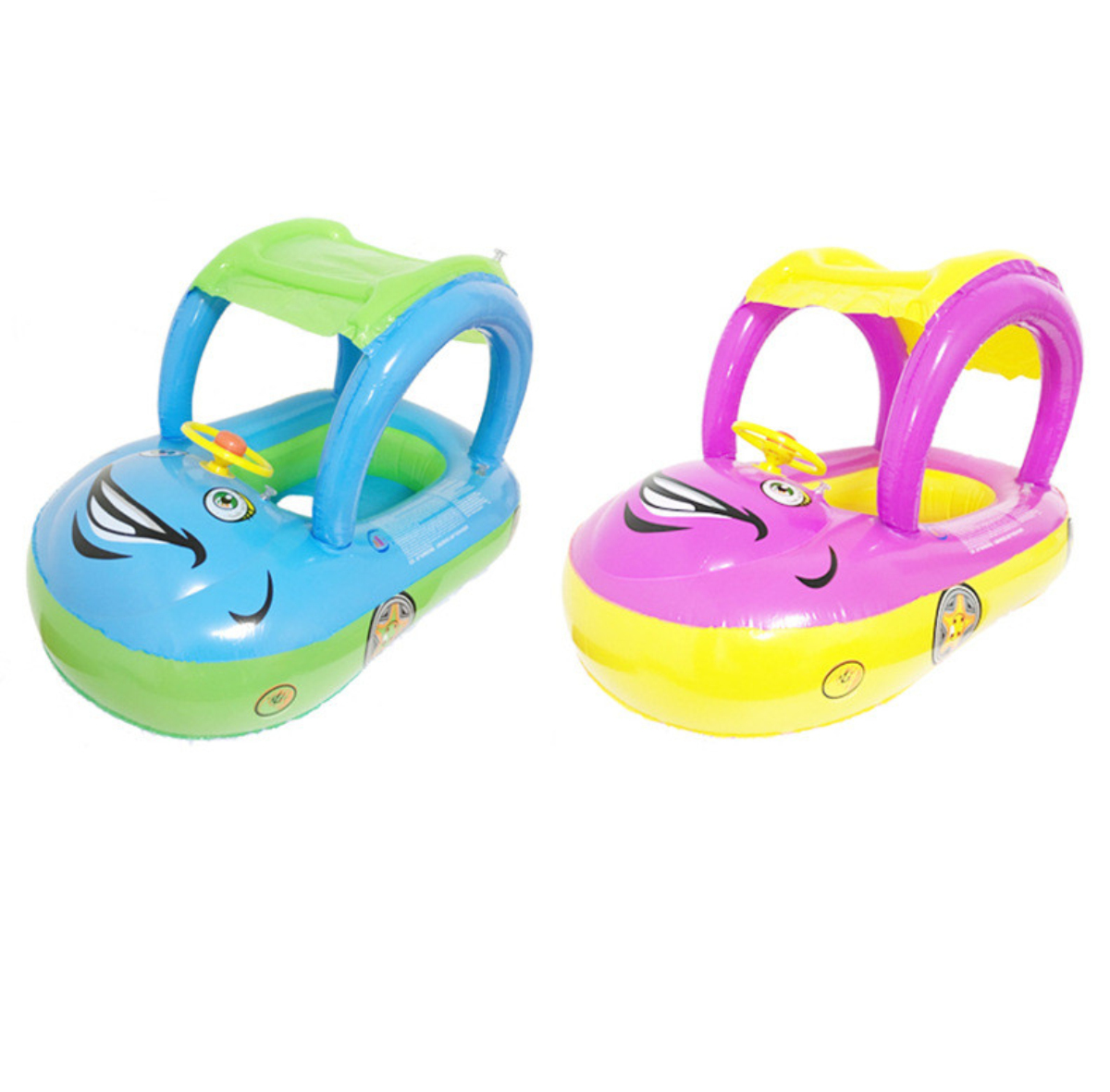 ABC Baby Inflatable Float Seat Boat Ring Adjustable Car SunShade Swimming Rings
