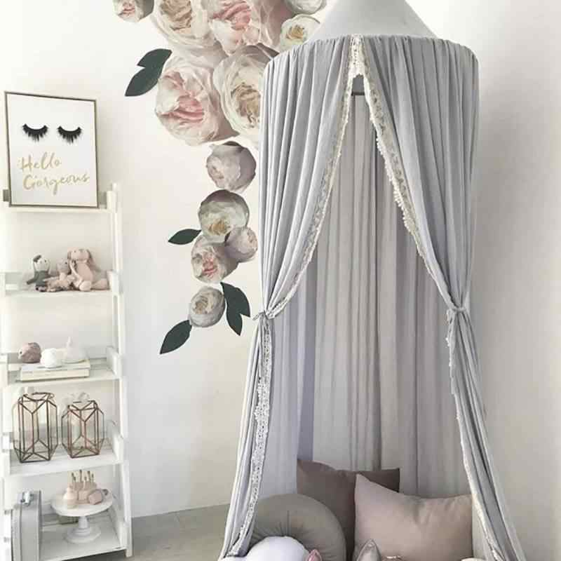 Nordic Nursery Room Hanging Dreamy Canopy Summer Mosquito Net Princess Bed Canopy Kids Play Tent For Kids Room Canopy Supplies